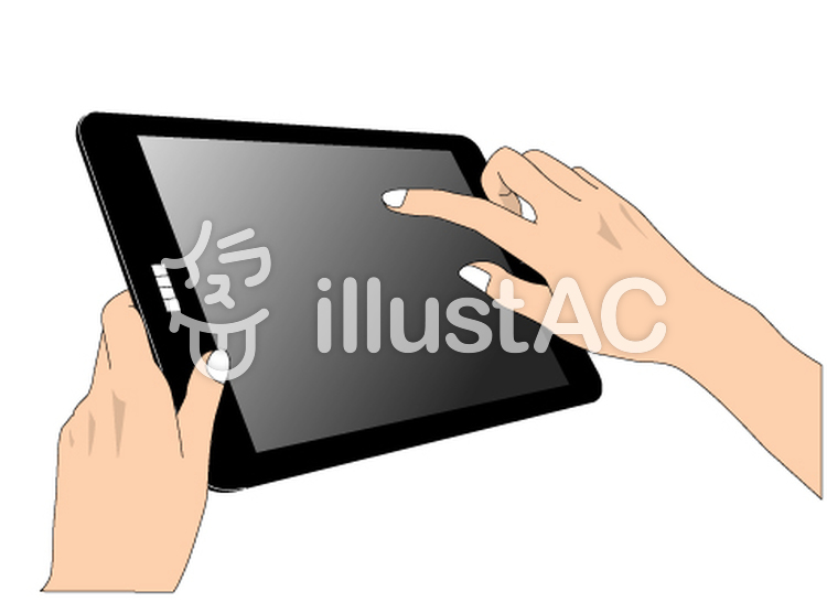 tabletのイラスト