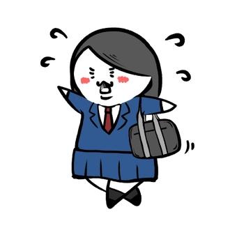 高中女生(著急)
