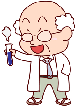 Illustration of an experimental scientist