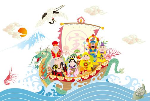 The Seven Lucky Gods The Lucky God Treasure Ship