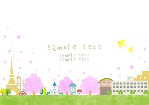 Townscape Cherry blossom season 29