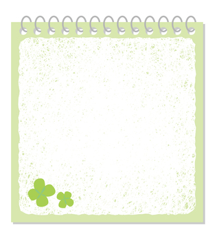 Four-leaf notepad