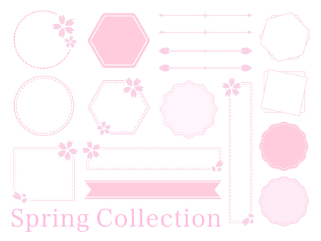 Season of cherry blossoms! Spring simple material set