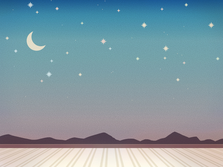 Room of night sky wallpaper 2