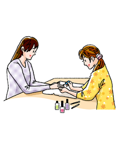Beautiful and beautiful at the nail salon