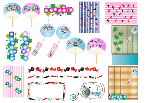 Japanese style summer material set