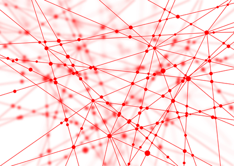Red network white abstract background material