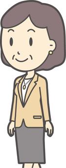 Bob middle-aged woman suit-323-bust