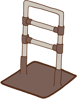 【Welfare Equipment】 Stationary type handrail