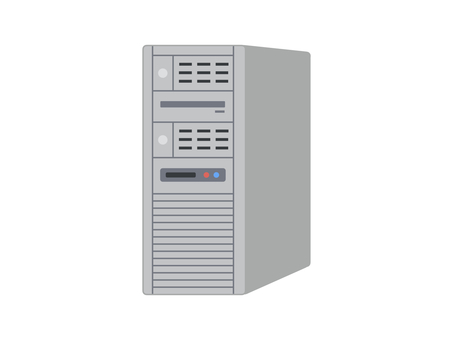 Server computer with border