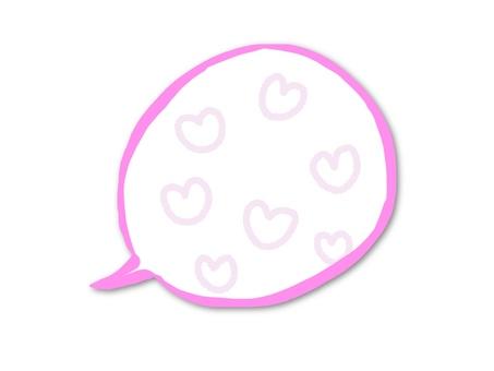 Speech bubble with heart pattern