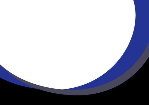 Frame blue (Showa modern style)