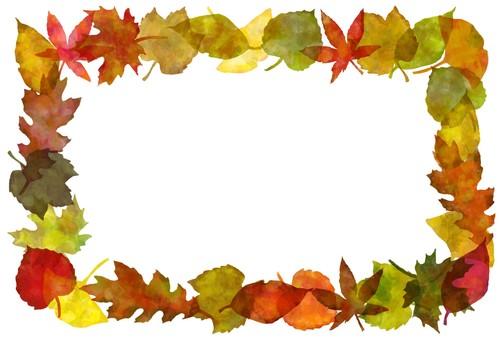 Fallen leaves frame