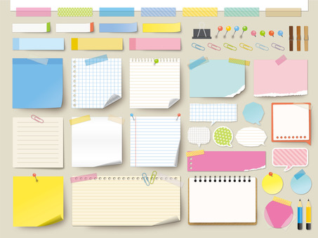 Stationery memo frame material (without png background)