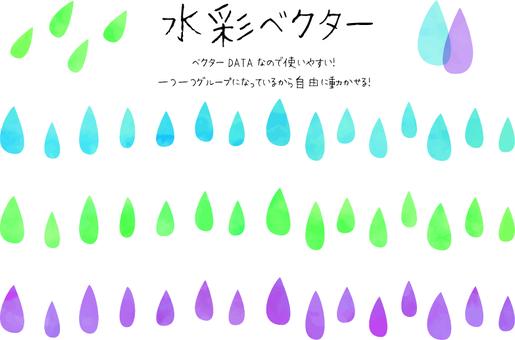 Drop of watercolors