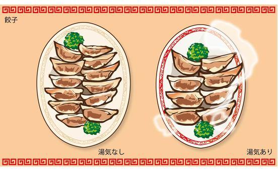 Dumplings seen from above