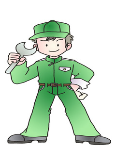 Automobile mechanic green working clothes