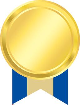 Medal Blue Ribbon Pattern 4
