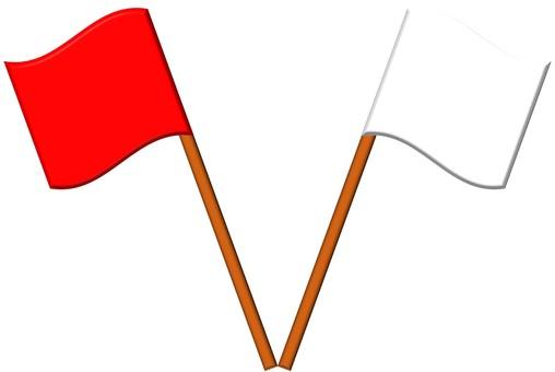 旗(紅白)