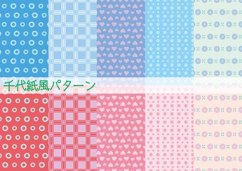 Chiyogami style pattern
