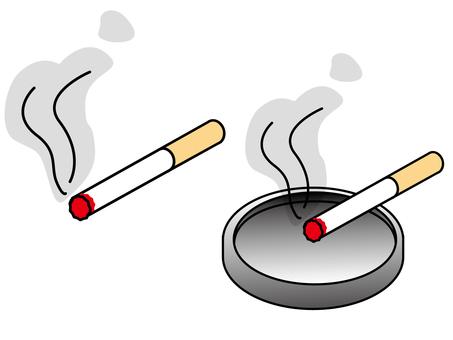 Tobacco smoke illustration