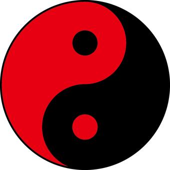 Yin Yang ball _ red black