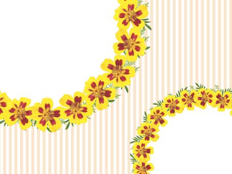 노란 꽃의 프레임 (오렌지)