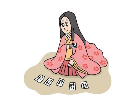 Peaceful beauty that makes a karuta
