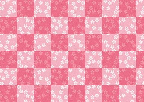 Checkered pattern wood plum background 01