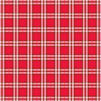 Fall and winter material (red check background)
