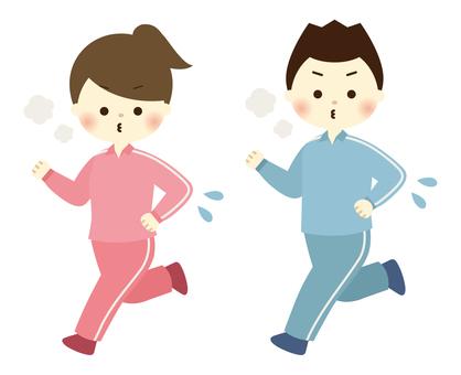 Running men and women -1