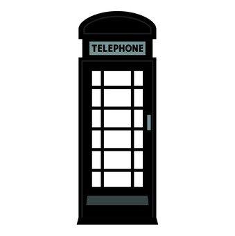 Telephone box black