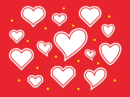 Various hearts (sticker style) 1