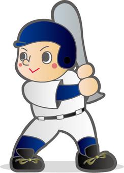 Baseball boy batter