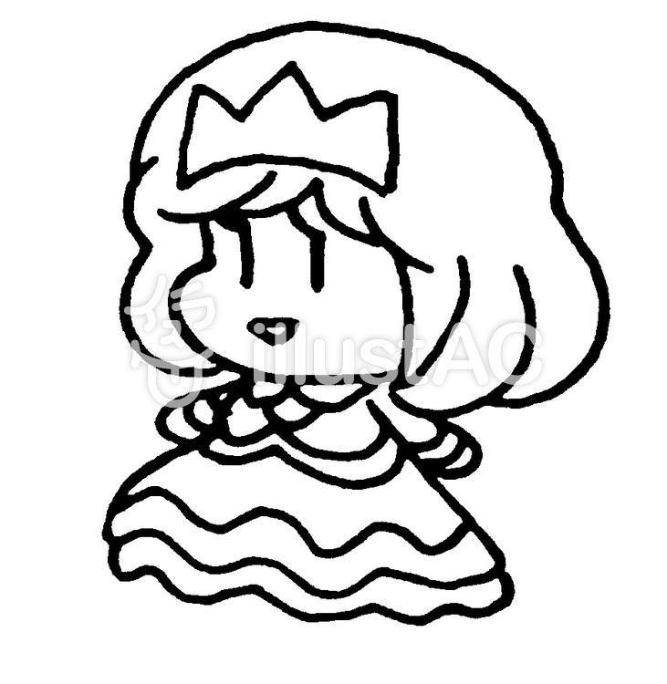プリンセス塗り絵イラスト No 1123607無料イラストならイラストac