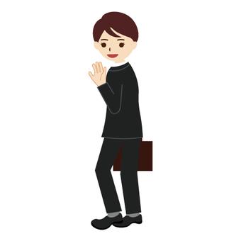 Men waving their hands (businessmen)