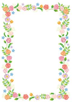 Flower and vine frame A 4