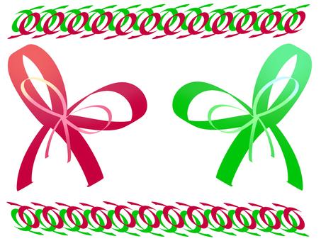 Red green ribbon