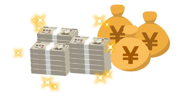 Big money and money bag