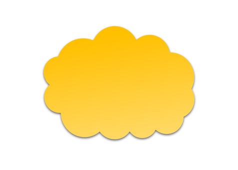 雲型의 말풍선 (노란색)