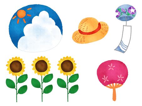 Various materials of summer 1