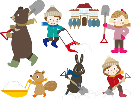 Winter games 20 (Animals b_ Snow shovel _ set)