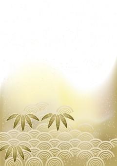 お正月笹の葉&青海波40
