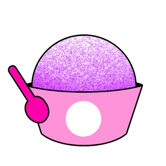 Illustration 4 of purple ice cream sold in the shop