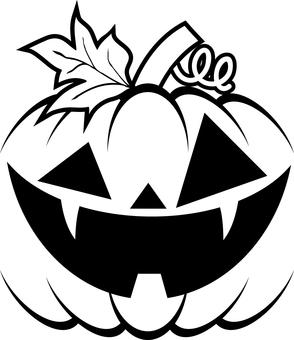 Halloween pumpkin head simple