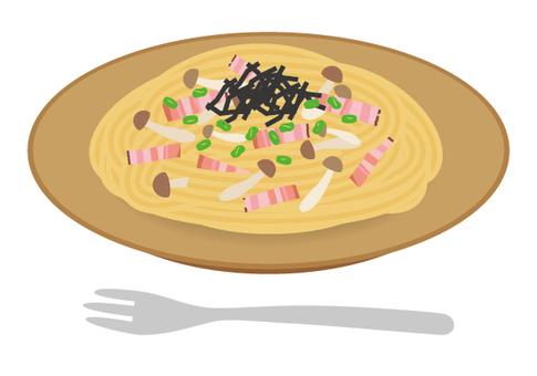 Pasta Japanese style mushrooms