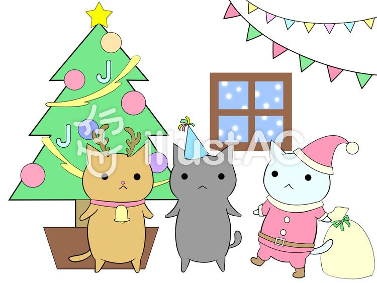 ねこ クリスマスイラスト No 607742無料イラストならイラストac