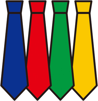 Colorful simple tie