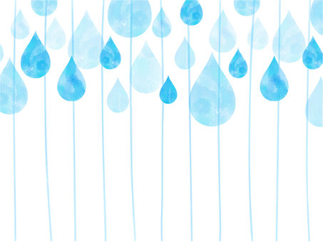 Stripes and background of raindrops