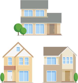 Three types of single-family homes
